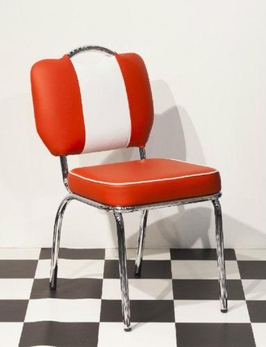 bistrostuhl paul american diner 50er jahre look rot wei. Black Bedroom Furniture Sets. Home Design Ideas