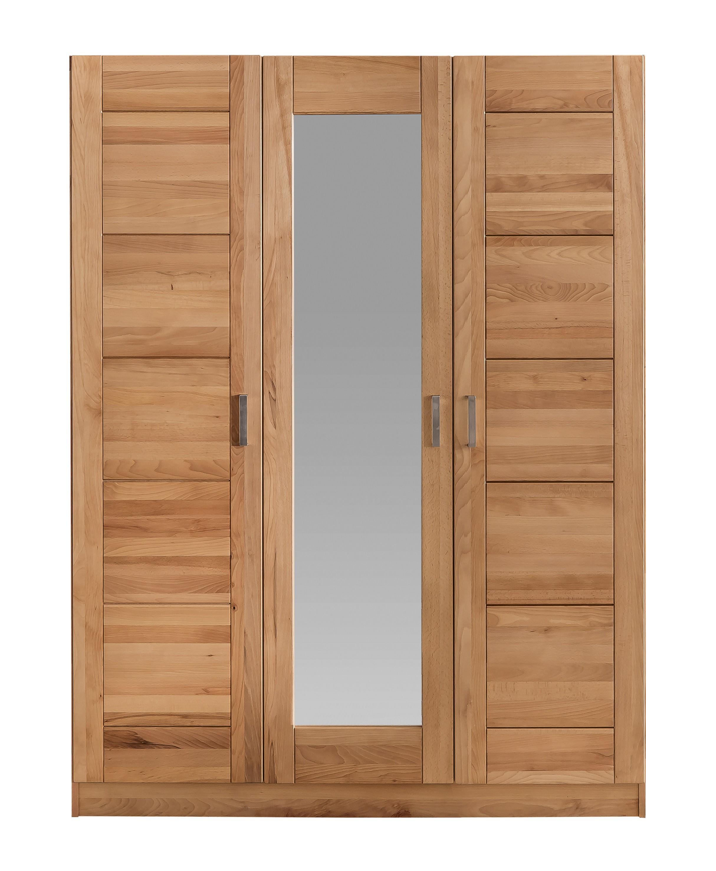 kleiderschrank tollow kernbuche massiv ge lt 3 t rig mit spiegel exklusiv. Black Bedroom Furniture Sets. Home Design Ideas